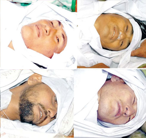 July 19: Pictures of the young people killed in the violence in Hazara town.