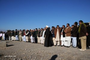 Funeral prayer of martyred leader Yousufi.