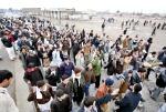 Protestors shout slogans during a demonstration against killing of Hazara policemen, including DSP Hassan Ali.