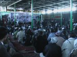 Audience at the Kabul memorial of Shaheed Hussain Yusufi