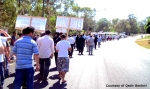 Large number of people protested (Photo by Qadir Bostani)