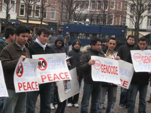 Hazaras in Holland protesting against the unprecedented upsurge of terrorist attacks in Pakistan.