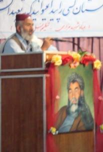Haji Akhtar Achagzai, representatives of Pushtoons from Afghanistan paid tributes to Baba Mazari.