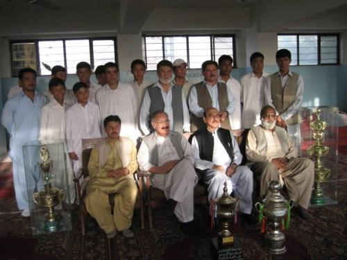 Hazara Green Football Club with Provincial Sports Minister.