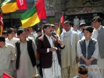 General Secretary HDP, Khaliq Hazara addressing the rally.