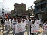 Hazara Democratic Party held a protest demonstration on Manan Chowk against the killing of Hazaras.