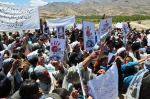Residents of Daikundi province of Afghanistan held protest demo against the killing of Hazaras in Quetta Pakistan on April 25.