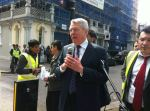 British Ex-Home Secretary and current MP  Alan Johnson joined protest in London against Hazara genocide in Quetta, Pakistan.